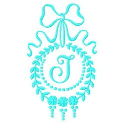 Monogram J embroidery design