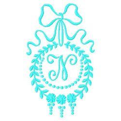 Monogram N embroidery design
