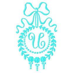 Monogram U embroidery design