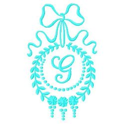 Monogram G embroidery design