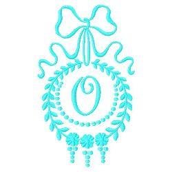 Monogram O embroidery design