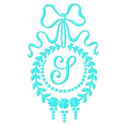 Monogram S embroidery design