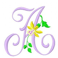 Vintage Alphabet 1 embroidery design