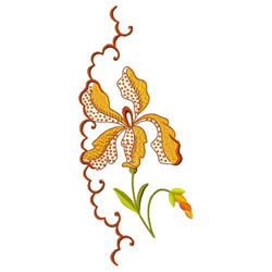 Orchid Edging embroidery design