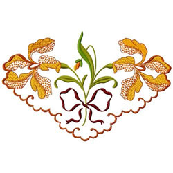 Orchid Corner embroidery design