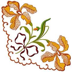 Orchid Corner embroidery design