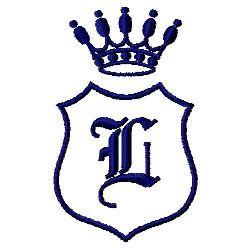 Royal Shield L embroidery design