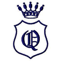 Royal Shield Q embroidery design
