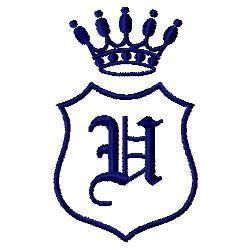Royal Shield U embroidery design
