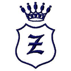 Royal Shield Z embroidery design