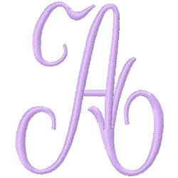 Monogram A embroidery design