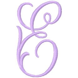 Monogram E embroidery design