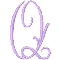 Monogram Q embroidery design