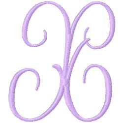 Monogram X embroidery design