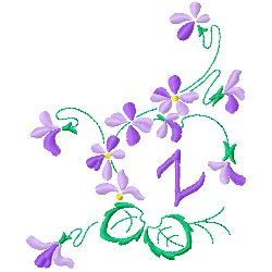 Floral Monogram Z embroidery design