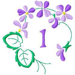 Floral Monogram I embroidery design