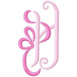 Bow Monogram H embroidery design