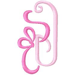 Bow Monogram J embroidery design