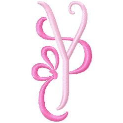 Bow Monogram Y embroidery design