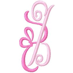 Bow Monogram Z embroidery design