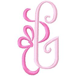 Bow Monogram G embroidery design