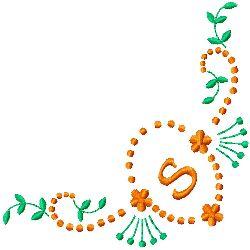 Monogram S embroidery design