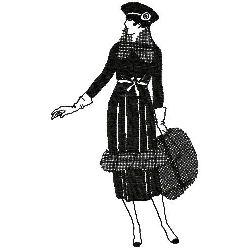 Art Deco Fashion embroidery design