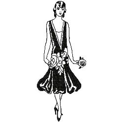 Art Deco Fashion embroidery design