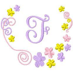Monogram F embroidery design