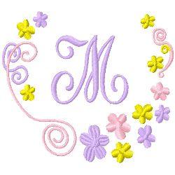 Monogram M embroidery design