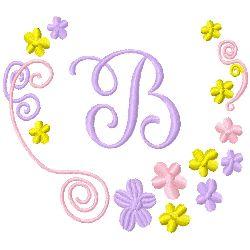 Monogram B embroidery design