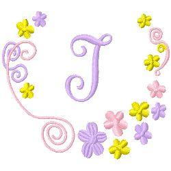 Monogram I embroidery design
