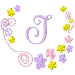 Monogram J embroidery design