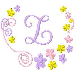 Monogram Z embroidery design