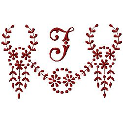 Medium embroidery design