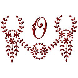 Monogram O embroidery design