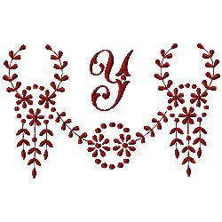 Monogram Y embroidery design
