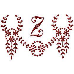 Monogram Z embroidery design