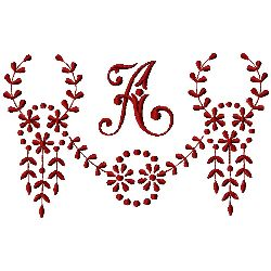 Monogram A embroidery design