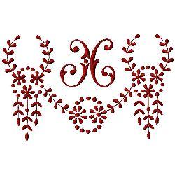 Monogram X embroidery design