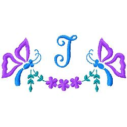 Butterfly Monogram I embroidery design