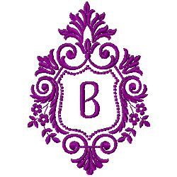 Crest Monogram B embroidery design