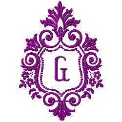 Crest Monogram G embroidery design