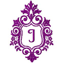 Crest Monogram I embroidery design