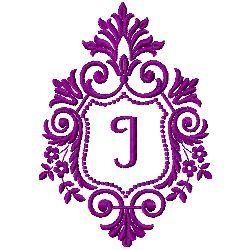 Crest Monogram I embroidery design
