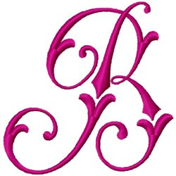 Curly Monogram B embroidery design