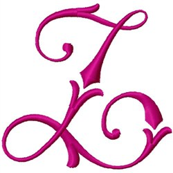 Curly Monogram Z embroidery design
