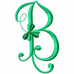 Shamrock Monogram B embroidery design