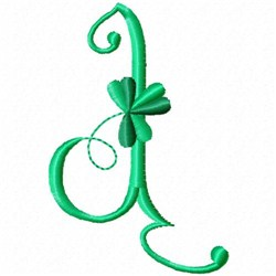 Shamrock Monogram J embroidery design