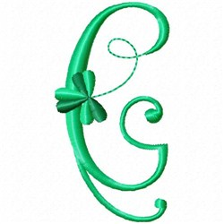 Shamrock Monogram C embroidery design